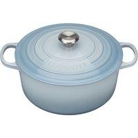 Le Creuset 28cm Cast Iron Round Casserole Dish Coastal Blue