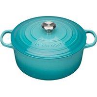 Le Creuset 28cm Cast Iron Round Casserole Dish Teal