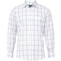 Alan Paine Mens Ilkley Shirt Blue Check Small