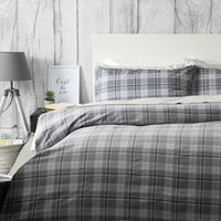 Belledorm Brushed Cotton Aspen Duvet Set Charcoal Double