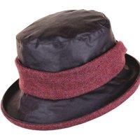 Heather Emma Wax Tweed Band Hat Brown/Redstart One