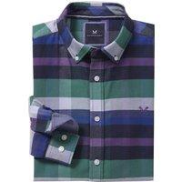 Crew Clothing Thorley Slim Oxford Shirt Violet Haze/Bright Cobalt/Shady Glade XL