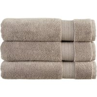 Christy Tempo Combed Cotton Towels Silver Bath Towel