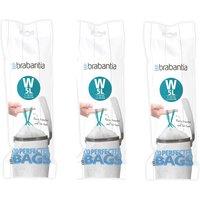 Brabantia Bin Liners Triple Deal Packs  5L W Teal