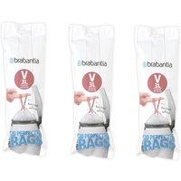 Brabantia Bin Liners Triple Deal Packs  3L V Pink
