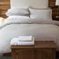 Belledorm Hotel Suite Satin Stripe Fitted Sheet Platinum Single