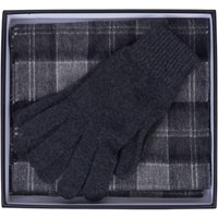 Barbour Mens Scarf and Glove Gift Box Black/Grey One