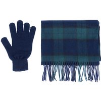 Barbour Mens Scarf and Glove Gift Box Blackwatch Tartan One