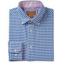 Schoffel Mens Soft Oxford Shirt Pale Blue Gingham 18.5 Inch