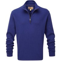 Schoffel Cotton French Rib 1/4 Zip Jumper Marine XXL