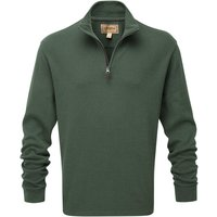 Schoffel Cotton French Rib 1/4 Zip Jumper Sage Small