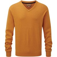 Schoffel Cotton/Cashmere V Neck Sweater Ochre Large