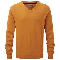 Schoffel Cotton/Cashmere V Neck Sweater Ochre Medium