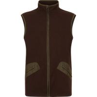 Le Chameau Fairford Technical Wool and Fleece Gilet Brown XXL
