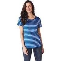 Crew Clothing Womens Breton Tee Strong blue / White Linen 16