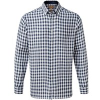 Schoffel Sandbanks Linen Shirt Navy Check 17 Inch