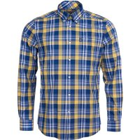 Barbour Country Check 10 Tailored Shirt Yellow XXL