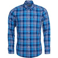 Barbour Country Check 10 Tailored Shirt Blue XXL