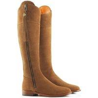 Fairfax & Favor Sporting Fit Regina Boots Flat Tan Suede 7.5 (EU41)