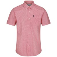 Barbour Mens Gingham 17 S/S Tailored Shirt Red Medium