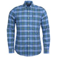 Barbour Mens Highland Check 26 Tailored Shirt Sky Blue Large