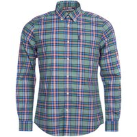 Barbour Mens Highland Check 26 Tailored Shirt Green Medium