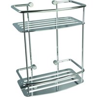 Miller Classic D Shape Shower Shelf  2 Tier