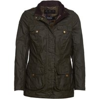 Barbour Womens Flowerdale Wax Jacket Archive Olive/Classic 12