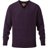 Schoffel Mens Lambswool V Neck Jumper Prune Small