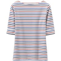 Crew Clothing Orchid Stripe Top Navy/Post box red/Ultramarine 18