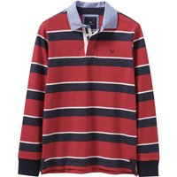 Crew Clothing Holden Stripe Rugby Top Crimson/Heritage Navy XXL