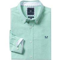 Crew Clothing Mens Slim Oxford Shirt Green Lake Large
