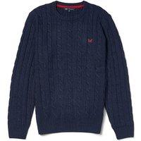 Crew Clothing Regatta Cable Crew Sweater Navy XL