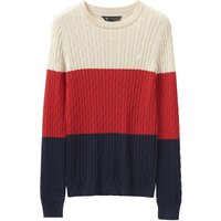 Crew Clothing Stripe Heritage Cable Crew Neck Postbox red/Heritage navy colourblock 8
