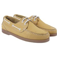 Crew Clothing Womens Leather Boat Shoe Yellow 6