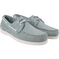 Crew Clothing Womens Leather Boat Shoe Pale Blue 8