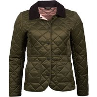 Barbour Womens Deveron Quilted Jacket Olive/Pale Pink 16