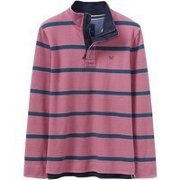 Crew Clothing Padstow Pique Sweat Crimson / Cassis / High Seas Large