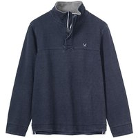 Crew Clothing Padstow Pique Sweat Navy XXL