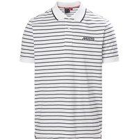 Musto Rhine Stripe Polo Shirt White/Truve Navy M