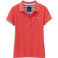 Crew Clothing Womens Revamped Classic Polo Cayenne/Powder Puff 16