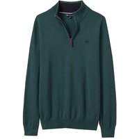 Crew Clothing Mens Classic Half Zip Knit Ivy Green Small
