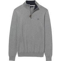 Crew Clothing Classic Half Zip Knit Grey Marl XL