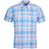 Barbour Mens Madras 6 S/S Summer Shirt Pink XXL