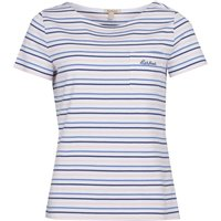 Barbour S/S Hawkins Stripe Top White Stripe 16