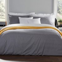Christy Diamond Duvet Bedding Set Charcoal Single