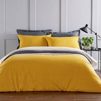 Christy Diamond Duvet Bedding Set Ochre Double