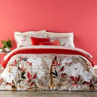 Christy Nara Duvet Set Coral Double