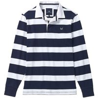 Crew Clothing Long Sleeve Rugby Shirt Heritage Navy / Optic White Small