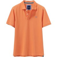 Crew Clothing Classic Pique Polo Shirt Golden Coral Large
